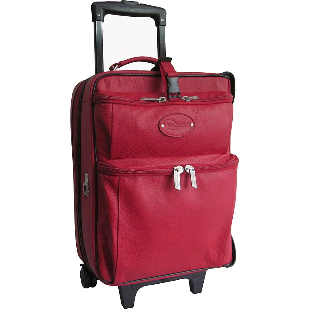 AmeriLeather Leather Novix Garment Bag Red - AmeriLeather Garment Bags - Luggage, Garment Bags