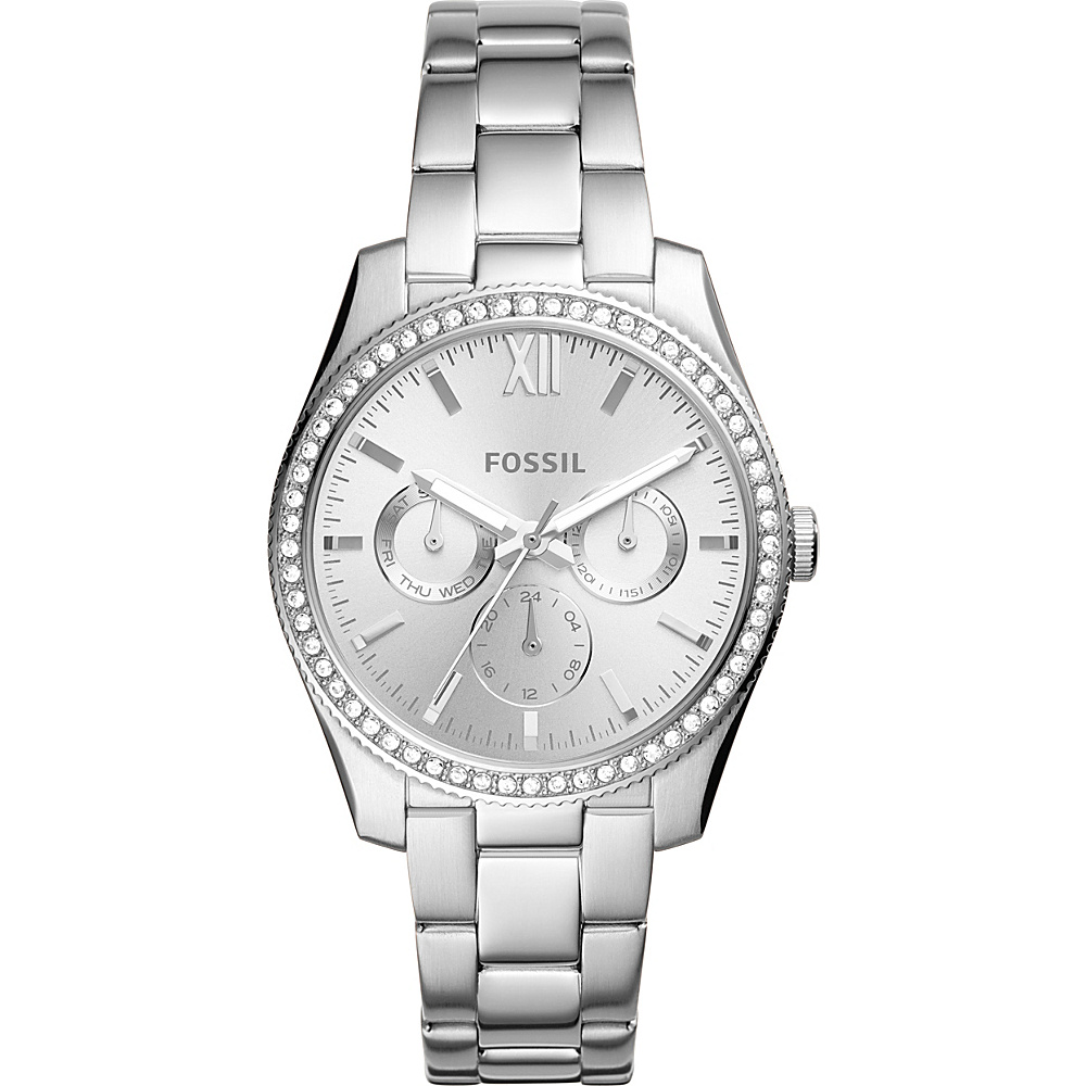 Fossil Scarlette Multifunction Stainless Steel Watch Silver - Fossil Watches - Fashion Accessories, Watches