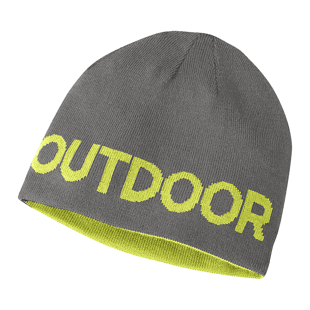 Outdoor Research Booster Beanie One Size - Pewter/Lemongrass - Outdoor Research Hats/Gloves/Scarves - Fashion Accessories, Hats/Gloves/Scarves