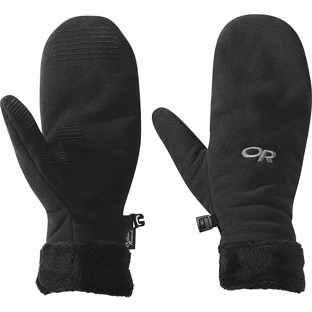 Outdoor Research Womens Fuzzy Mitts S - Black - Outdoor Research Hats/Gloves/Scarves - Fashion Accessories, Hats/Gloves/Scarves