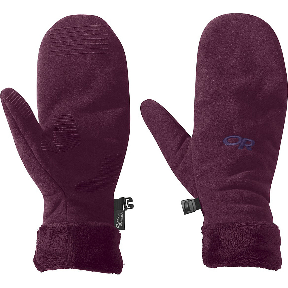 Outdoor Research Womens Fuzzy Mitts S - Orchid - Outdoor Research Hats/Gloves/Scarves - Fashion Accessories, Hats/Gloves/Scarves