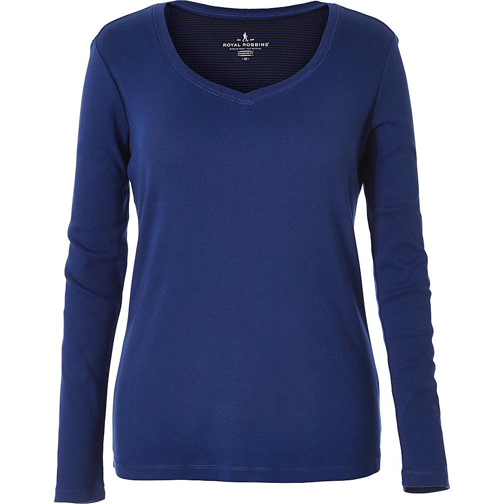 Royal Robbins Womens Kick Back Sweet V XS - Blue Depths - Royal Robbins Womens Apparel - Apparel & Footwear, Women's Apparel