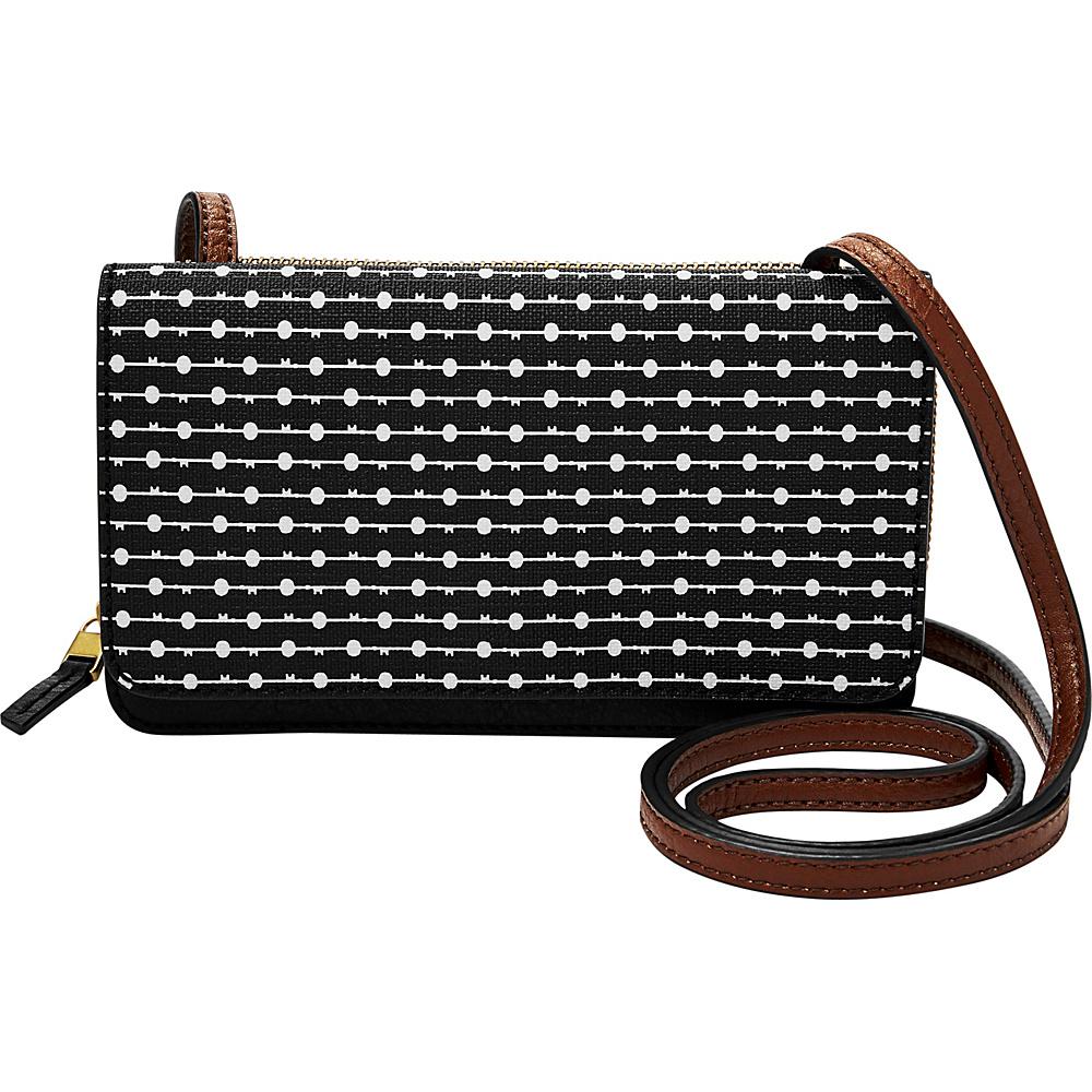 Fossil Brynn Mini Bag Black Stripe - Fossil Manmade Handbags - Handbags, Manmade Handbags