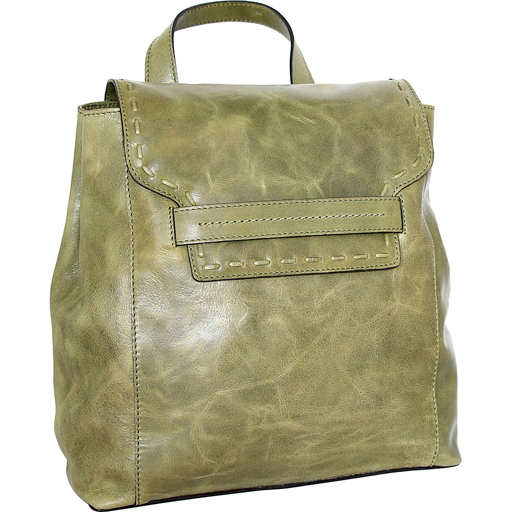 Nino Bossi Caterina Backpack Avocado - Nino Bossi Leather Handbags - Handbags, Leather Handbags