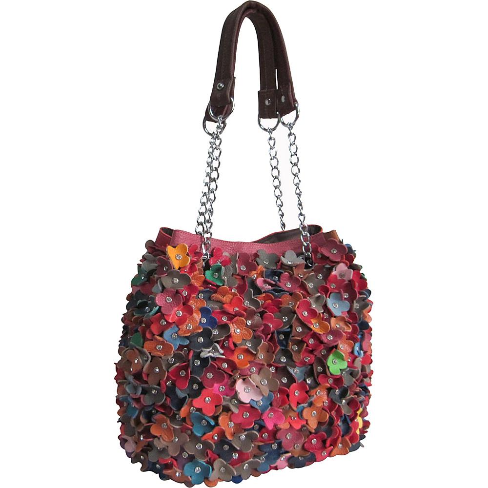 AmeriLeather Willet Leather Shoulder Bag Rainbow - AmeriLeather Leather Handbags - Handbags, Leather Handbags