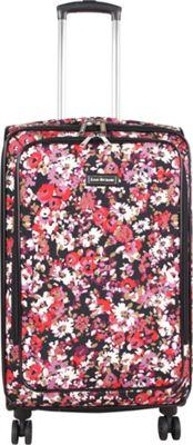 Isaac Mizrahi Cascadia 26 inch 8-Wheel Spinner Checked Luggage Black - Isaac Mizrahi Softside Checked