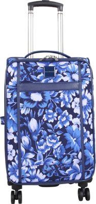 Isaac Mizrahi Lantana 22 inch 8-Wheel Spinner Carry-On Luggage Blue - Isaac Mizrahi Softside Carry-On