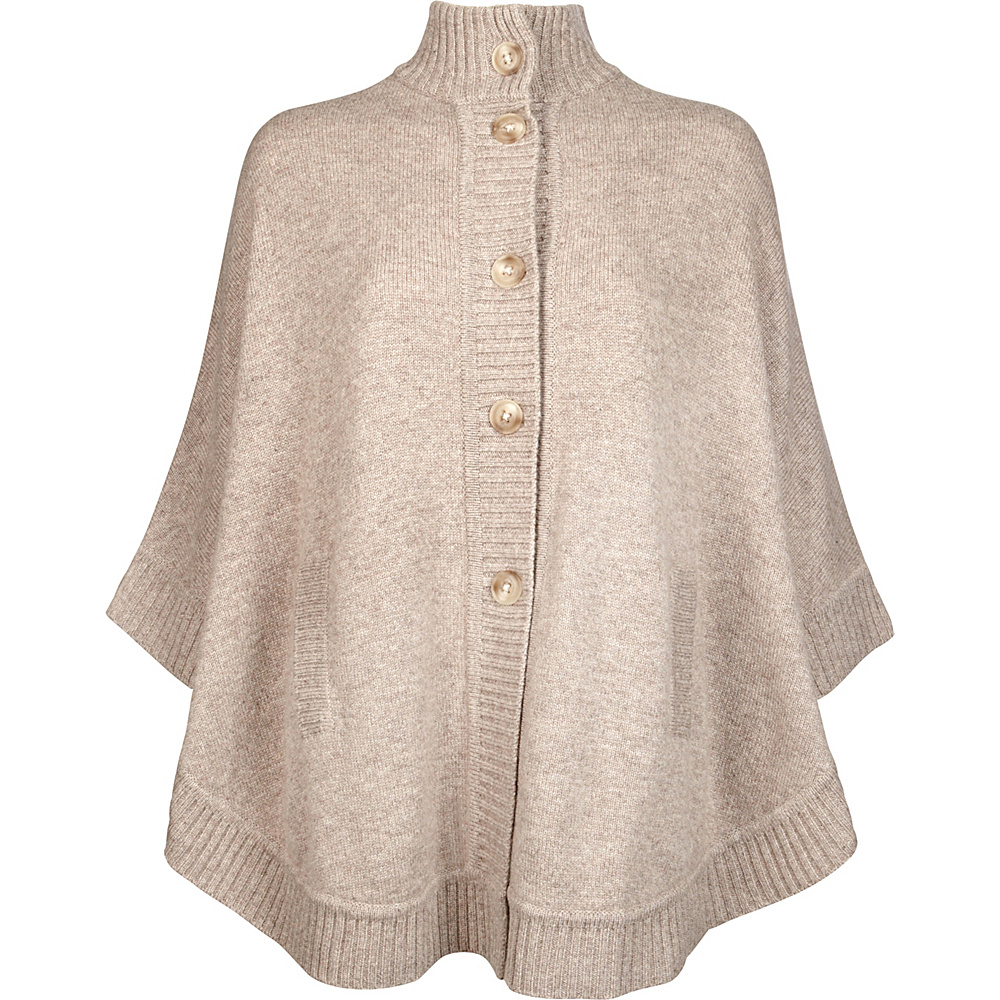 Kinross Cashmere Rounded Cape One Size  - Antler - Kinross Cashmere Womens Apparel - Apparel & Footwear, Women's Apparel
