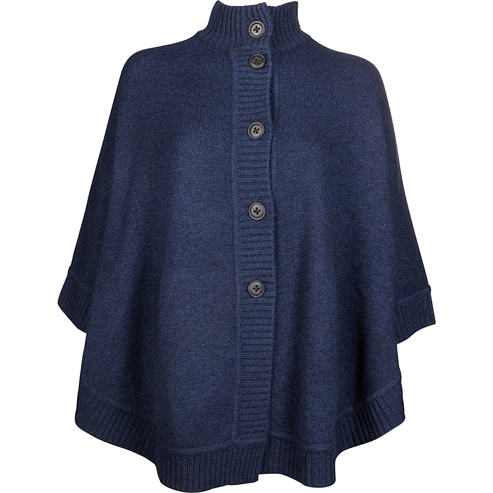 Kinross Cashmere Rounded Cape One Size  - Dusk - Kinross Cashmere Womens Apparel - Apparel & Footwear, Women's Apparel