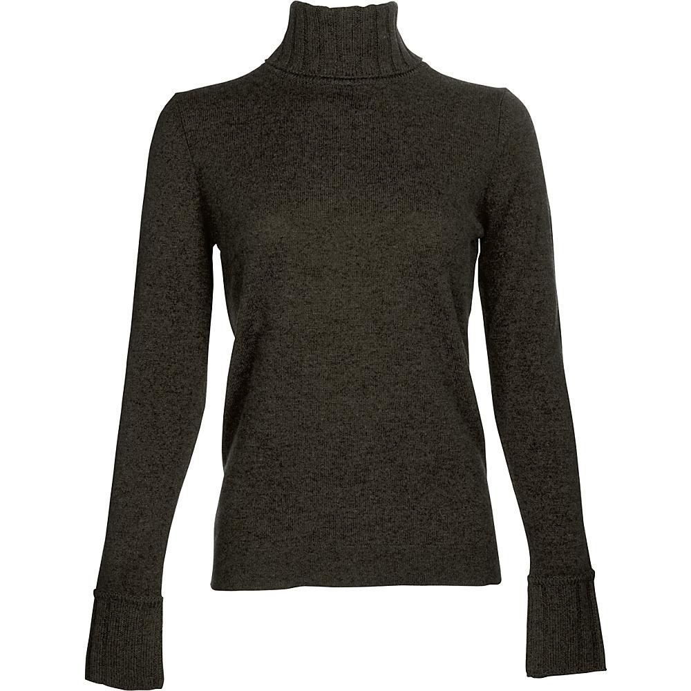 Kinross Cashmere Chunky Trim Turtleneck L - Teak - Kinross Cashmere Womens Apparel - Apparel & Footwear, Women's Apparel