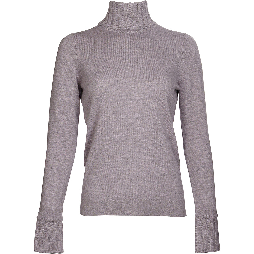 Kinross Cashmere Chunky Trim Turtleneck XL - Thistle - Kinross Cashmere Womens Apparel - Apparel & Footwear, Women's Apparel