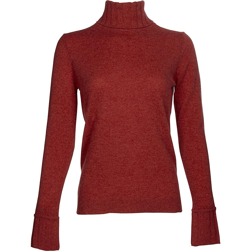 Kinross Cashmere Chunky Trim Turtleneck S - Vermillion - Kinross Cashmere Womens Apparel - Apparel & Footwear, Women's Apparel