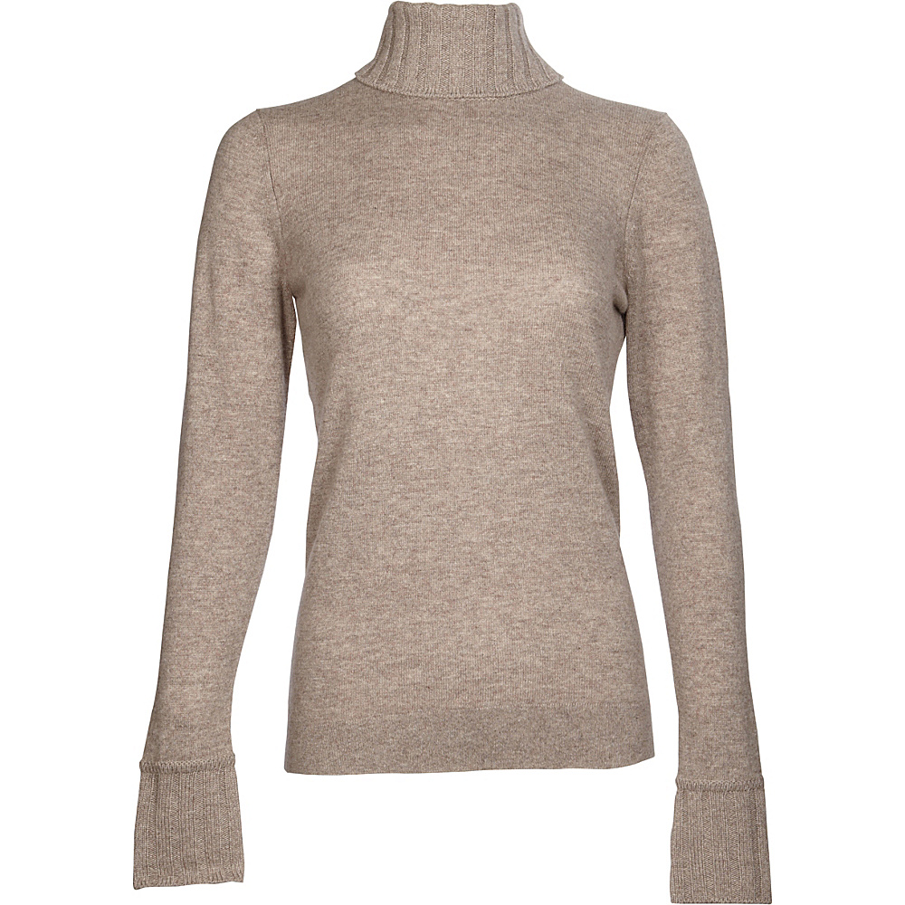 Kinross Cashmere Chunky Trim Turtleneck XS - Antler - Kinross Cashmere Womens Apparel - Apparel & Footwear, Women's Apparel