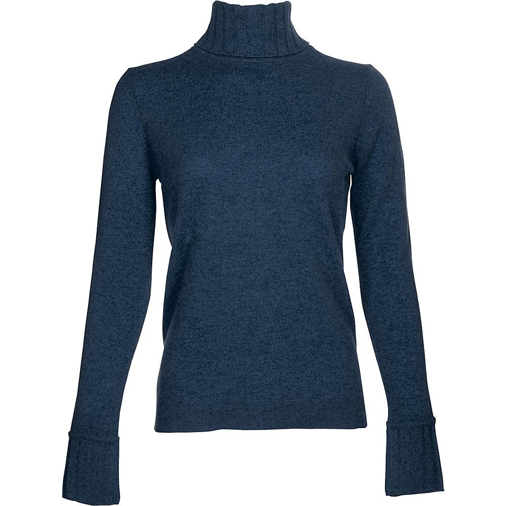 Kinross Cashmere Chunky Trim Turtleneck XL - Dusk - Kinross Cashmere Womens Apparel - Apparel & Footwear, Women's Apparel