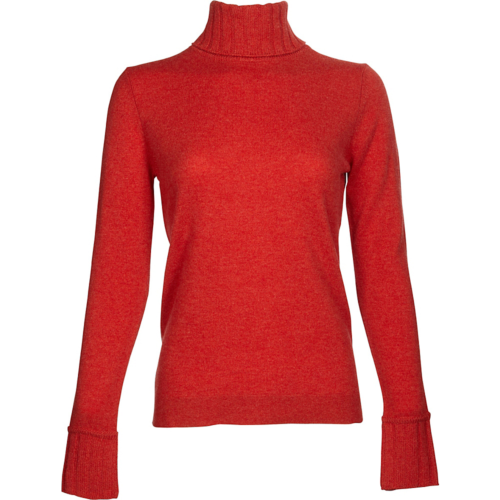 Kinross Cashmere Chunky Trim Turtleneck XL - Sunset - Kinross Cashmere Womens Apparel - Apparel & Footwear, Women's Apparel