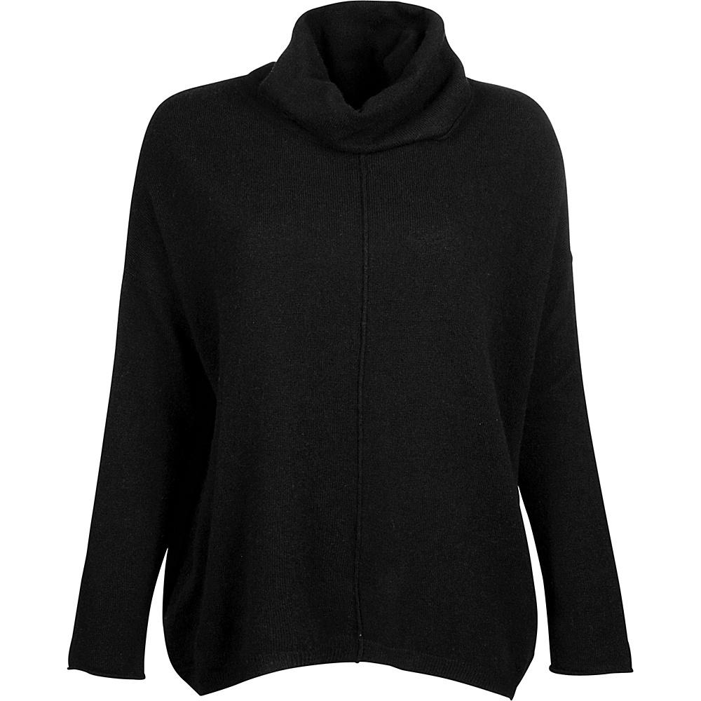 Kinross Cashmere Slouchy Cowl Popover XL - Black - Kinross Cashmere Womens Apparel - Apparel & Footwear, Women's Apparel