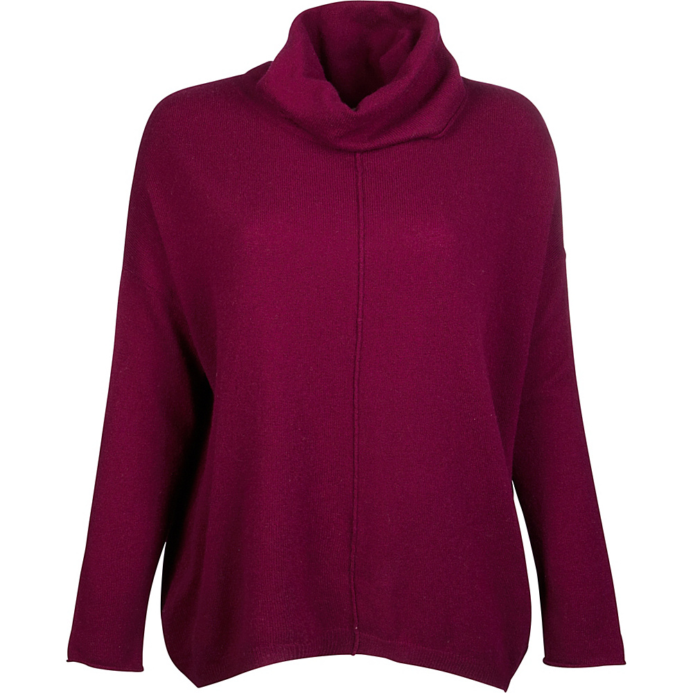 Kinross Cashmere Slouchy Cowl Popover XL - Cassis - Kinross Cashmere Womens Apparel - Apparel & Footwear, Women's Apparel