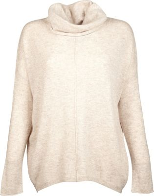 Kinross Cashmere Slouchy Cowl Popover M - Fawn - Kinross Cashmere Women's Apparel