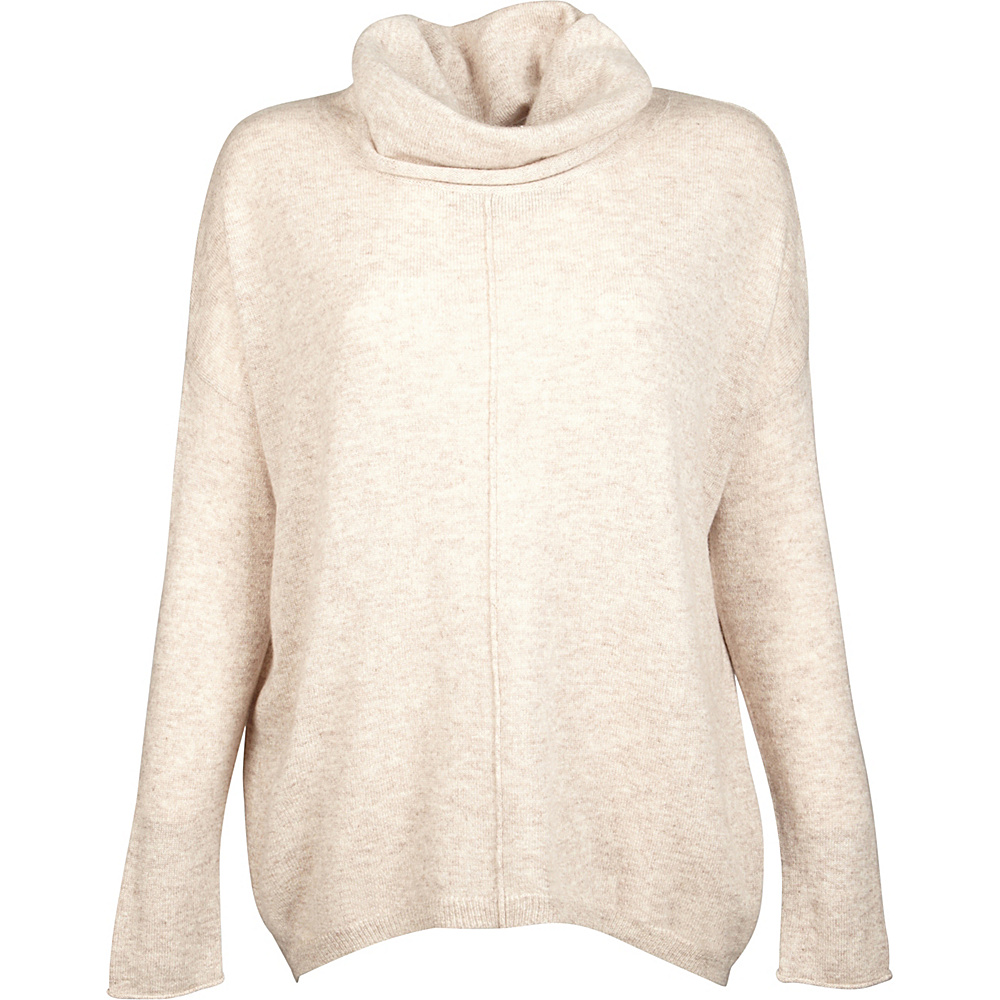 Kinross Cashmere Slouchy Cowl Popover M - Fawn - Kinross Cashmere Womens Apparel - Apparel & Footwear, Women's Apparel