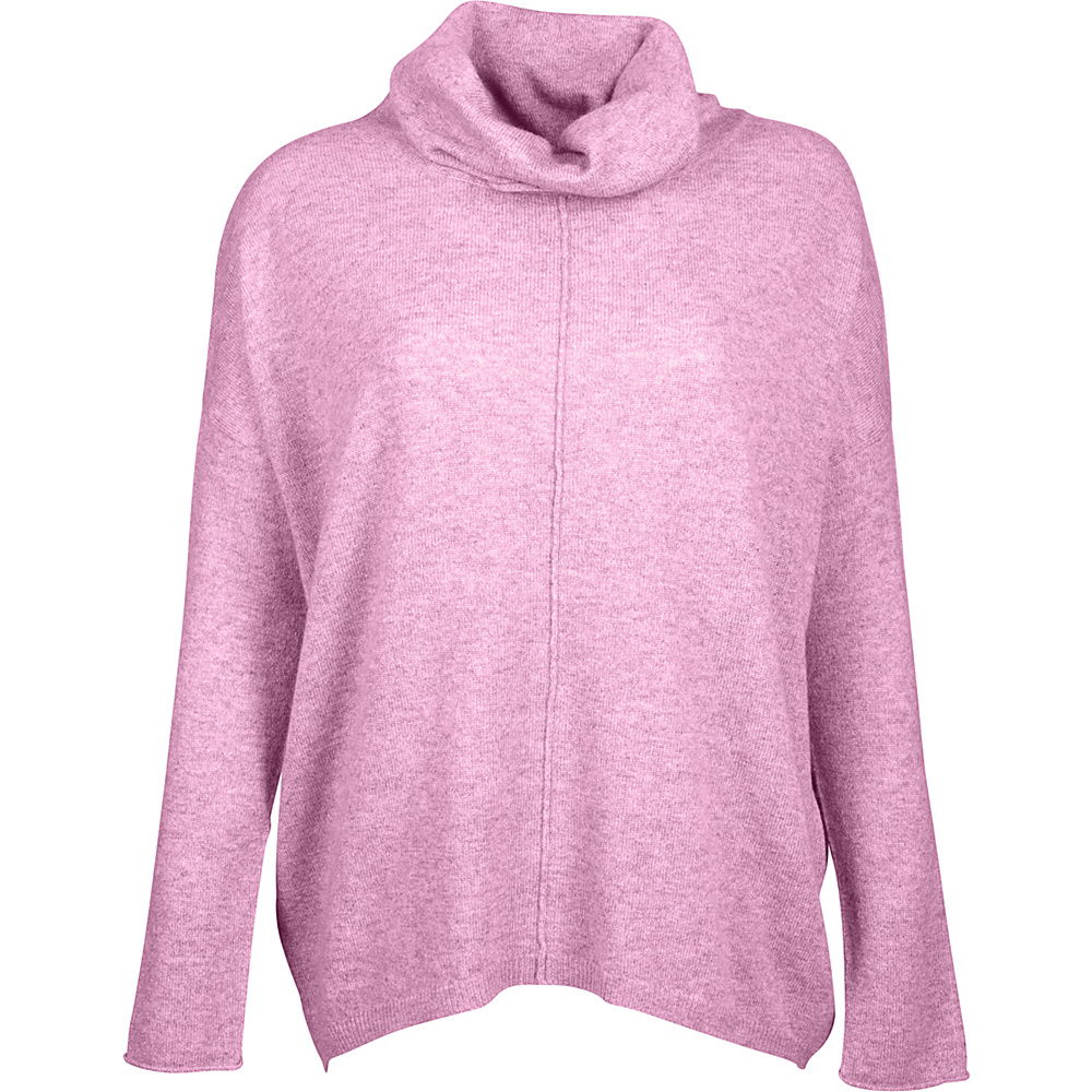 Kinross Cashmere Slouchy Cowl Popover S - Orchid - Kinross Cashmere Womens Apparel - Apparel & Footwear, Women's Apparel