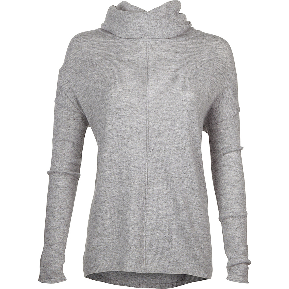 Kinross Cashmere Slouchy Cowl Popover XS - Sterling - Kinross Cashmere Womens Apparel - Apparel & Footwear, Women's Apparel