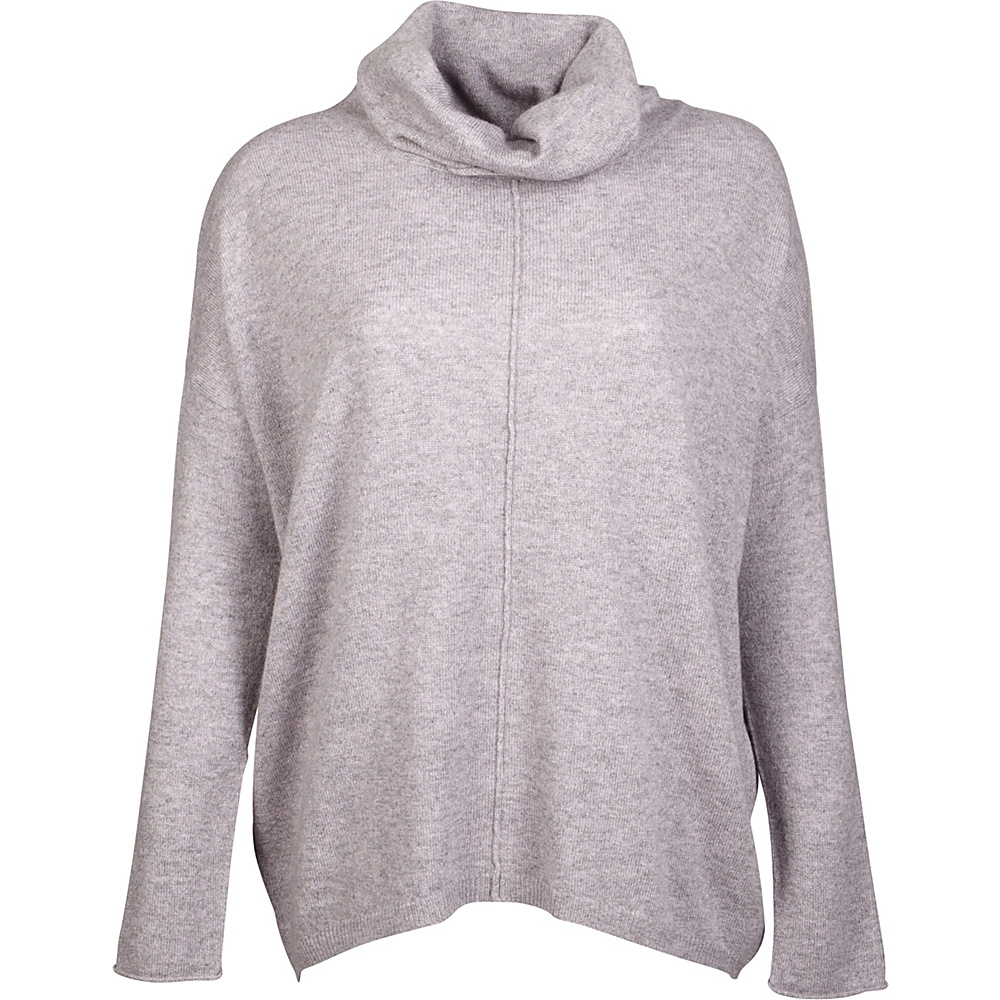 Kinross Cashmere Slouchy Cowl Popover XS - Thistle - Kinross Cashmere Womens Apparel - Apparel & Footwear, Women's Apparel