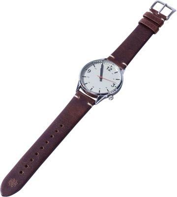 Hook & Albert Leather Vintage Watch Strap Dark Brown - Hook & Albert Watches