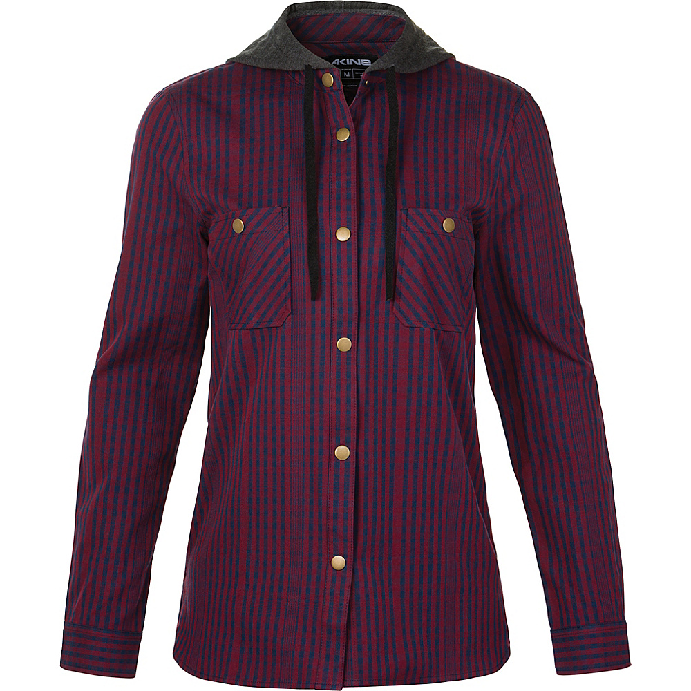 DAKINE Womens Brighton Winter Flannel Shirt L - Rosewood - DAKINE Womens Apparel - Apparel & Footwear, Women's Apparel