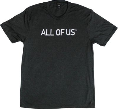 All of Us Mens Crew Tee XL - Black Frost/White - All of Us Men's Apparel
