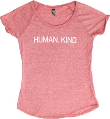 All of Us Womens Scoop Neck Tee L - Red Heather - All of Us Women's Apparel