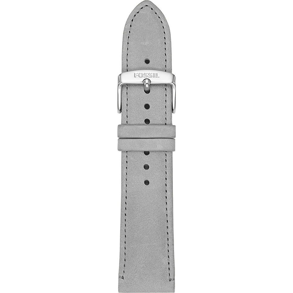 Fossil 22mm Gray Leather Watch Strap Grey - Fossil Watches - Fashion Accessories, Watches