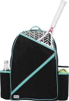 Ame & Lulu Brooks Tennis Backpack Black Shutters - Ame & Lulu Racquet Bags