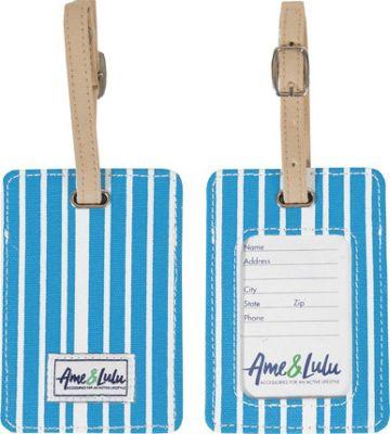 Ame & Lulu Tag Along Luggage Tag Ticking Stripe - Ame & Lulu Luggage Accessories