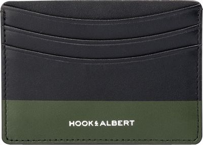Hook & Albert Leather Card Holder Brown/Olive - Hook & Albert Men's Wallets