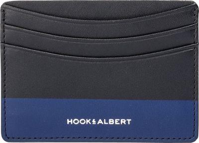 Hook & Albert Leather Card Holder Brown/Blue - Hook & Albert Men's Wallets