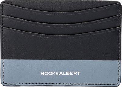 Hook & Albert Leather Card Holder Black/Gray - Hook & Albert Men's Wallets