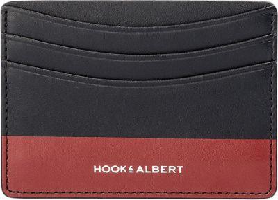 Hook & Albert Leather Card Holder Black/Red - Hook & Albert Men's Wallets