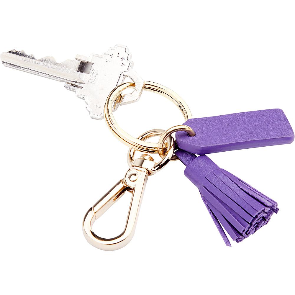 Royce Leather Leather Mini Tassel Key Fob Purple - Royce Leather Car Travel - Technology, Car Travel