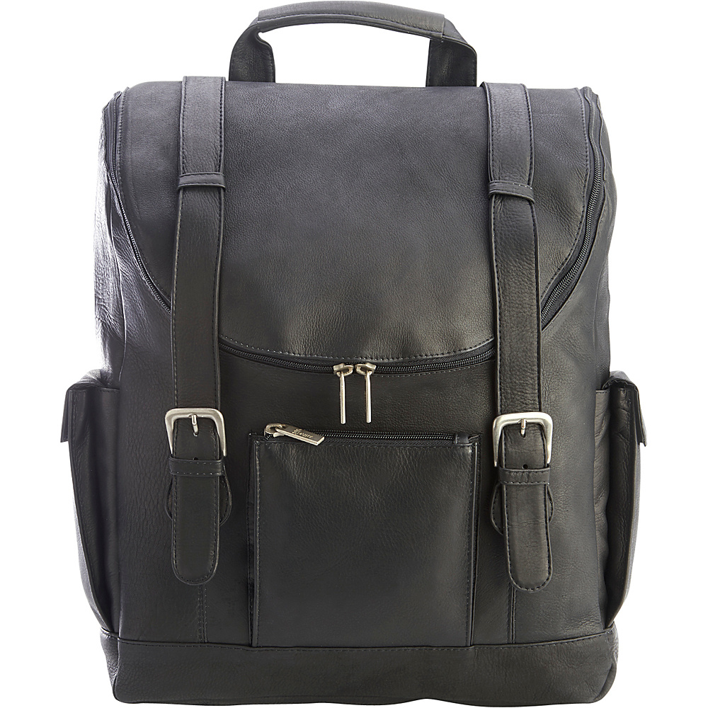 Royce Leather Colombian Leather Backpack with 15 Laptop Sleeve Black - Royce Leather Business & Laptop Backpacks - Backpacks, Business & Laptop Backpacks