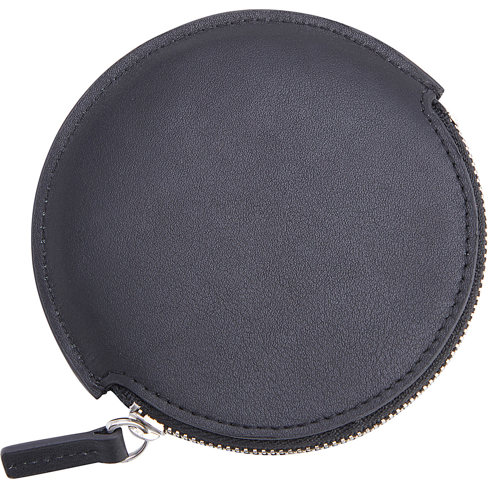 Royce Leather Leather Circular Earbud Travel Case Black - Royce Leather Portable Batteries & Chargers - Technology, Portable Batteries & Chargers