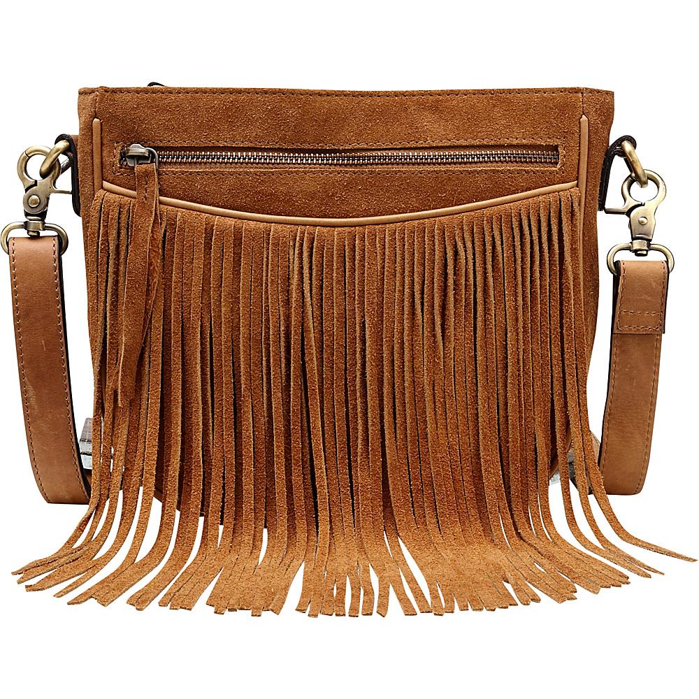 778dee3a4315 Vicenzo Leather Ivonne Suede leather Fringe Crossbody Handbag Brown - Vicenzo  Leather Leather Handbags - Handbags