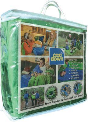 Cozidown Plush Convertible Blanket/Backpack - Adult Hunter Green - Cozidown Travel Pillows & Blankets