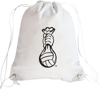 Zumer Volleyball Drawstring Bag Volleyball White - Zumer Everyday Backpacks