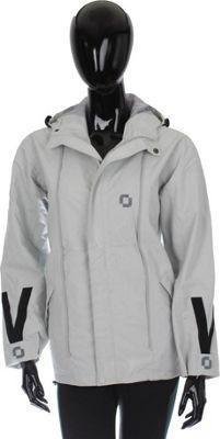 RuckJack Convertible Unisex Rain Jacket 3XL - Light Gray - RuckJack Men's Apparel