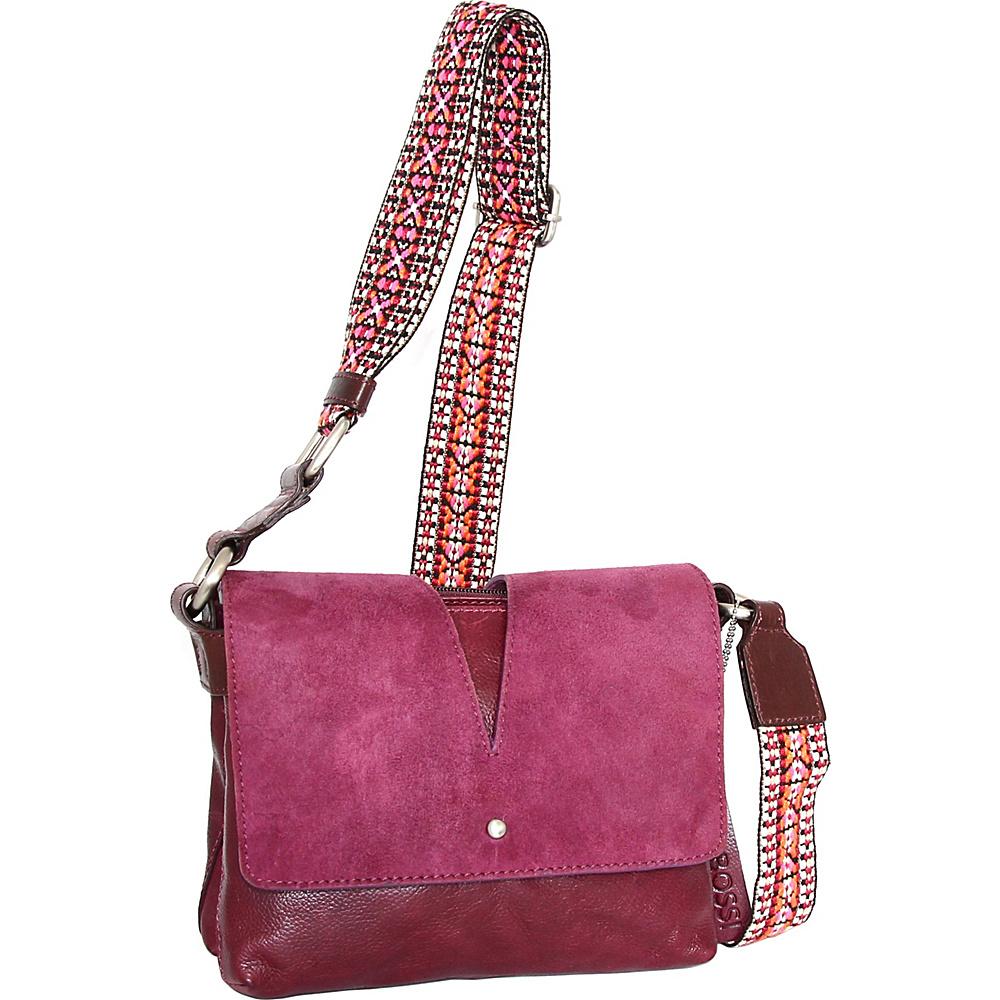 Nino Bossi Sumana Rocks Crossbody Plum - Nino Bossi Leather Handbags - Handbags, Leather Handbags