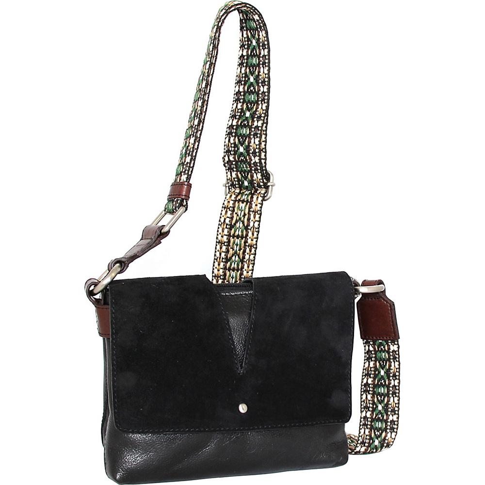 Nino Bossi Sumana Rocks Crossbody Black - Nino Bossi Leather Handbags - Handbags, Leather Handbags