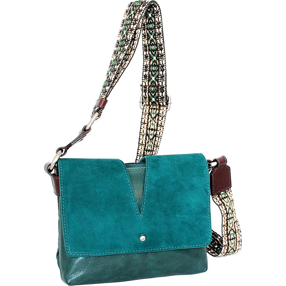 Nino Bossi Sumana Rocks Crossbody Green - Nino Bossi Leather Handbags - Handbags, Leather Handbags