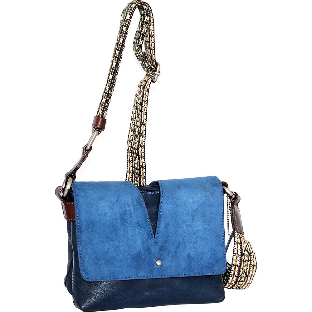 Nino Bossi Sumana Rocks Crossbody Blue - Nino Bossi Leather Handbags - Handbags, Leather Handbags