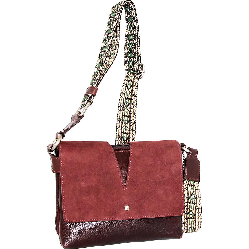 Nino Bossi Sumana Rocks Crossbody Walnut - Nino Bossi Leather Handbags - Handbags, Leather Handbags