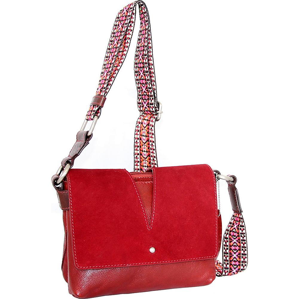 Nino Bossi Sumana Rocks Crossbody Red - Nino Bossi Leather Handbags - Handbags, Leather Handbags